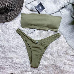 NWT Zaful High Leg Bikini